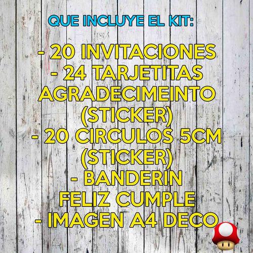 kit five nights at freddy's invitaciones banderín y mas x30