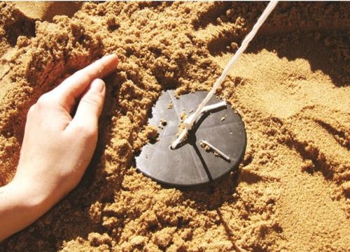 kit fixação tendas gazebo discos areia vareta terra estacas