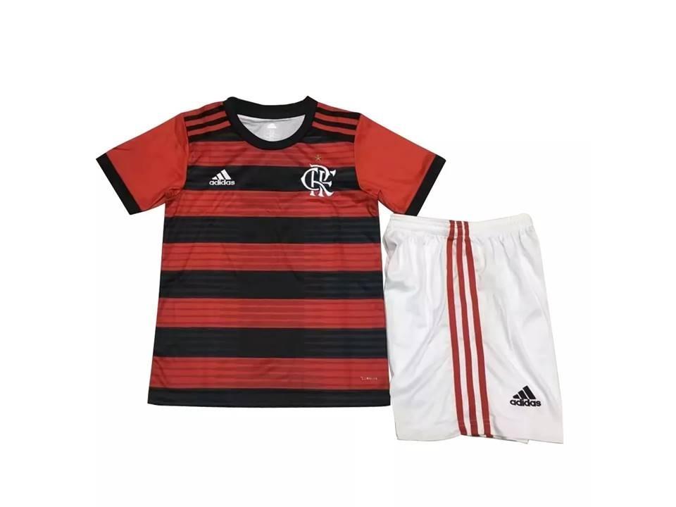 650cbf307b kit flamengo infantil 2018 adidas camisa short vermelho novo. Carregando  zoom.