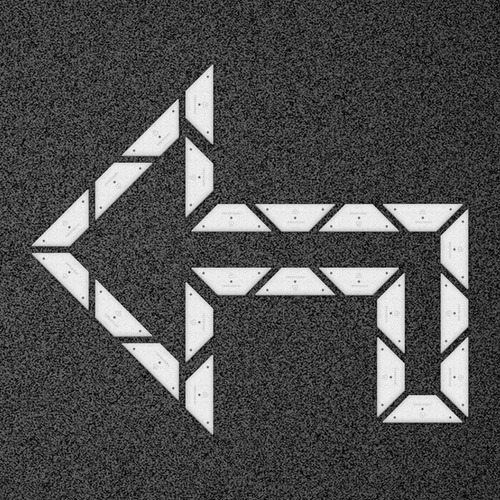 kit flecha doble curva 90 izquierda - placa