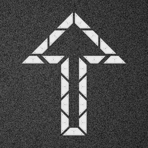 kit flecha doble recta - placa