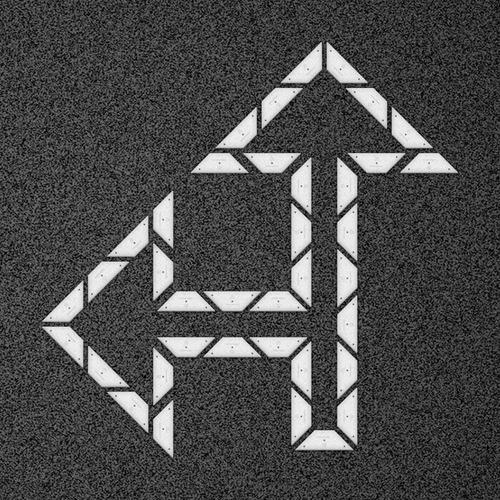 kit flecha especial curva 90 izquierda - placa
