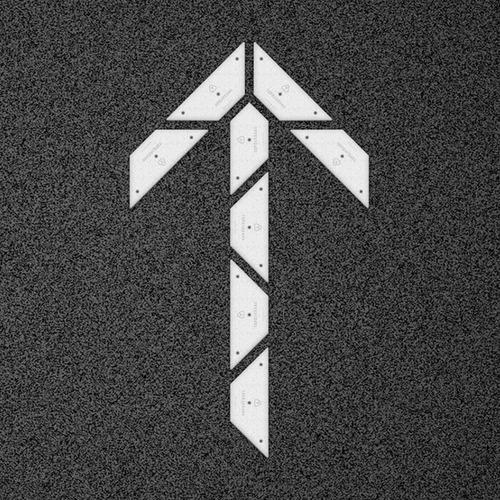 kit flecha mini recta - placa