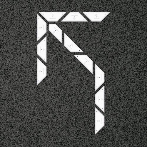 kit flecha simple curva 45 izquierda - placa
