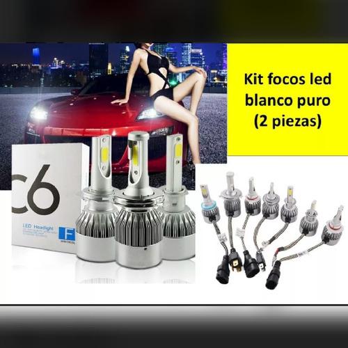 kit focos led h4 c6 automotriz para faros principales