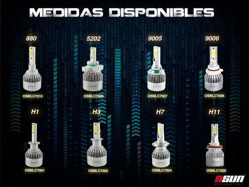 kit focos led osun c6 - 9005 h7 h1 h3 faros auto luces