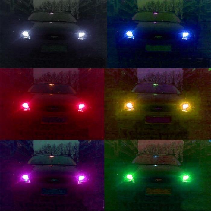 Kit focos led pellizco t10 autos motonetas en 8 colores en mercado libre - Focos led con luces de colores ...