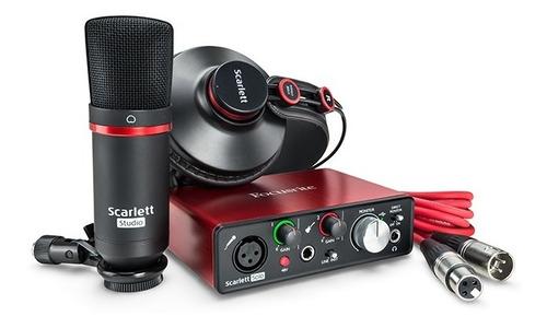 kit focusrite scarlett solo studio pack 2da generación