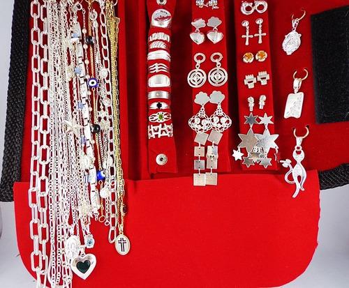 kit folheado prata e a ouro 60 pç + brinde feminino pulseira