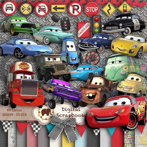 kit fondos 14 y  14 personajes cars
