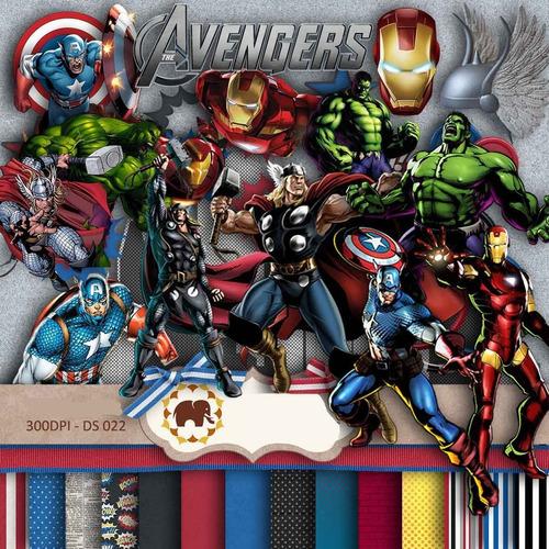 kit fondos 15 papeles avenger