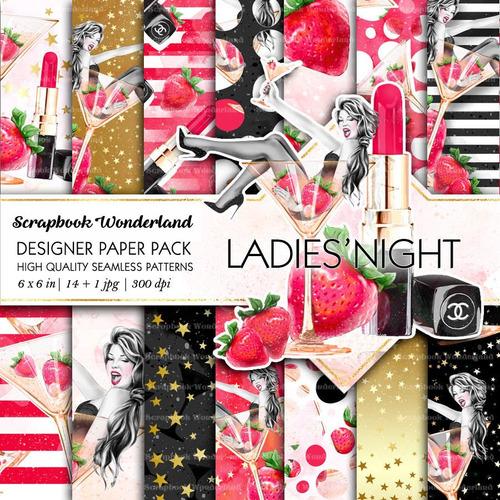 kit fondos fashion noche de chicas despedida de soltera