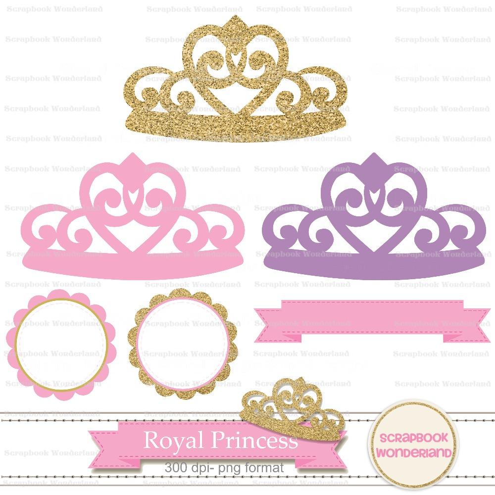 kit fondos princesa corona dorado rosa papel cliparts princess crown vector illustration free princess crown vector image free download