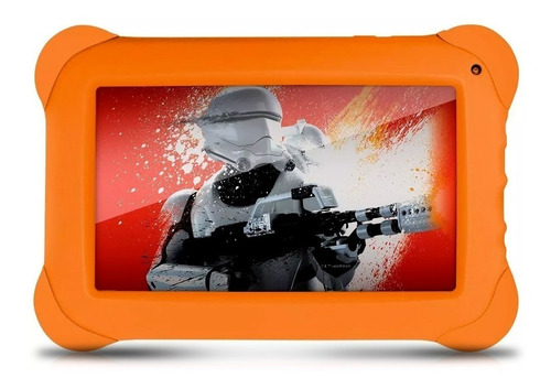 kit fone headset gamer + tablet disney star wars.