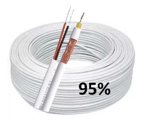 kit fonte 5a 12v + bnc + p4 + cabo coaxial rf 4,0mm 100m 95%
