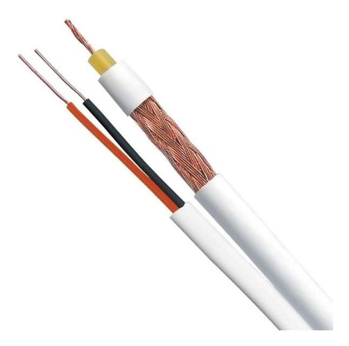 kit fonte 5a 12v colmeia + cabo coaxial rf 4,0mm 100m 95%