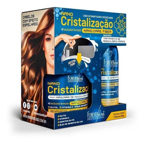 kit forever liss nano cristalização capilar  e shampoo 300ml