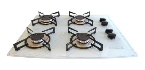 kit forno elétrico 45l e cooktop 4q branco safanelli 110v