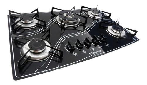 kit forno embutir + fogão cooktop tripla chama safanelli+nfe