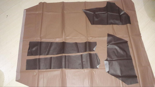 kit forro de teto e porta do  vw voyage ano 85/87 marron 2p