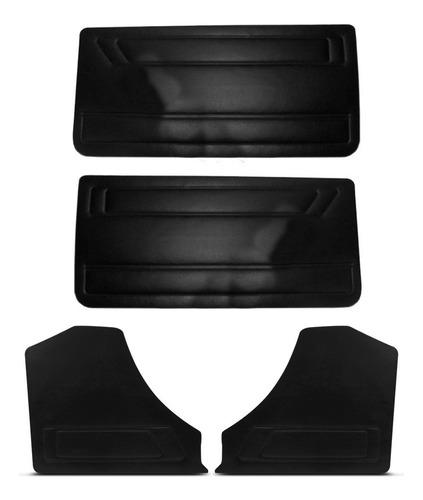 kit forro porta + lateral traseira gol quadrado 89/94 preto