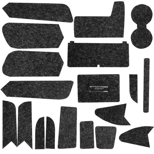 kit forro porta objeto anti ruído new civic 19 peças 07 a 11