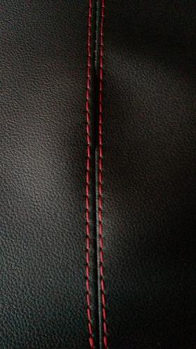 kit forros  portas do gol g6 em couro ecologico cor vermelho