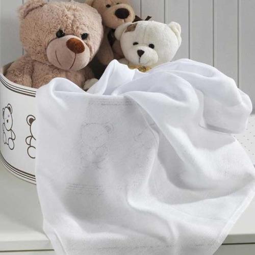 kit fralda de pano + toalha + pano de boca cremer - menina