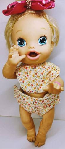 kit fraldinha + babador em tecido boneca