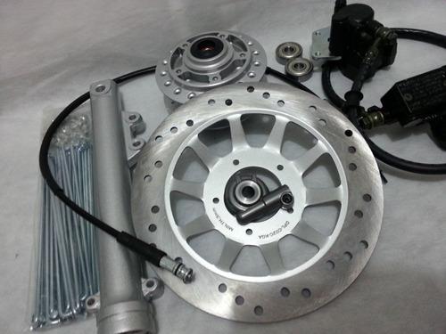 kit freio á disco honda titan / fan 125 es até 2013 completo