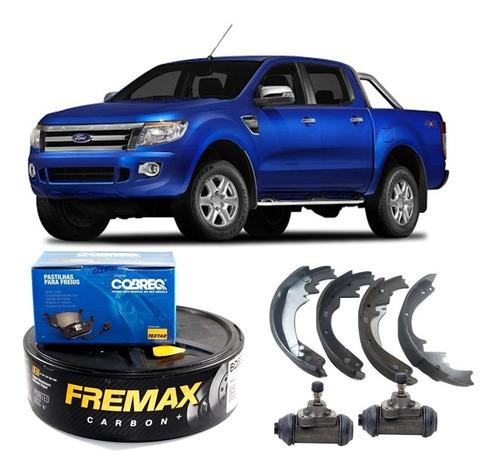 kit freio dianteiro e traseiro ranger 3.2 2012 - 2017