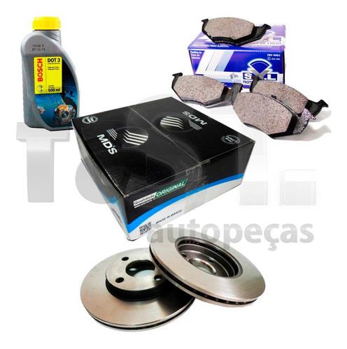 kit freio pastilha disco e dot 3 novo corsa 1.0 1.4 8v 2002/