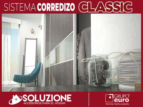 kit frente integral placard 4mts aluminio classic grupo euro