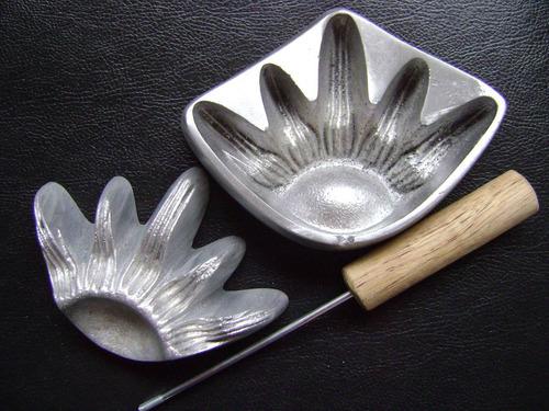 kit frisador de flores eva em alumínio 28 peças + apostila