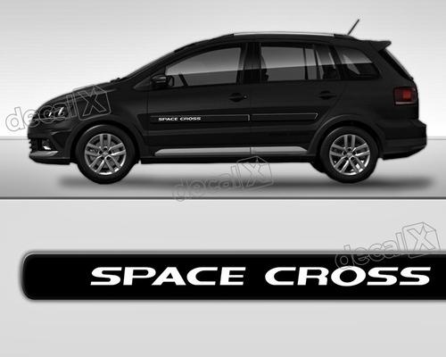 kit friso adesivo lateral resinado volkswagen space cross pr