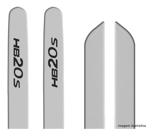 kit friso hb20s 2013  a 2019 lateral tipo borrachão prata
