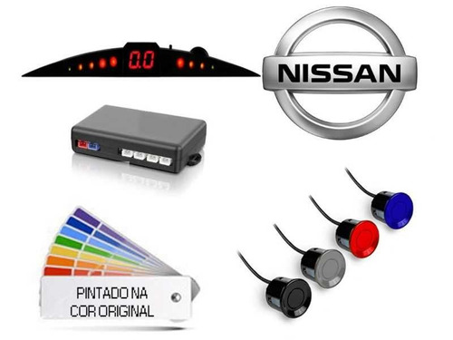 kit friso lateral + sensor estacionamento nissan versa