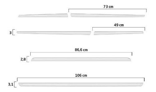 kit frisos porta-malas stilo + aplique lateral e soleira