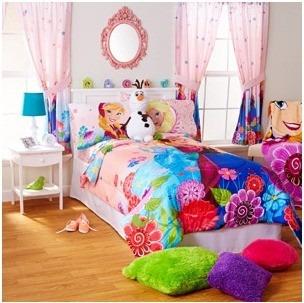 kit frozen niña cama matrimonial 2 sabanas 2 fundas almohada