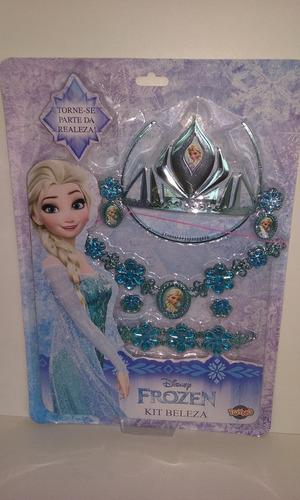 kit frozen personagem elsa , coroa colar bracelete brincos