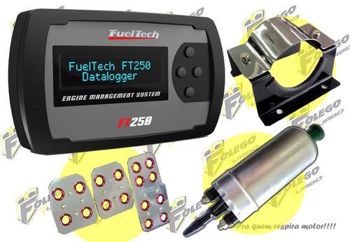 kit ft-250 + bomba comb. gti + suporte aço inox + pedaleiras