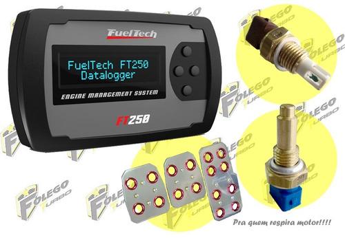 kit ft-250 + sensor ar + sensor água + pedaleiras racing