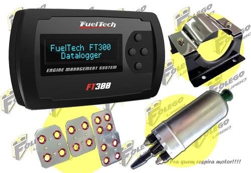 kit ft-300 + bomba comb. gti + suporte aço inox + pedaleiras