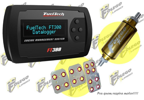 kit ft-300 + filtro combustível pequeno + pedaleiras racing