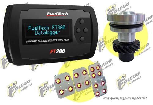 kit ft-300 + tampão distribuidor vw ap + pedaleiras racing