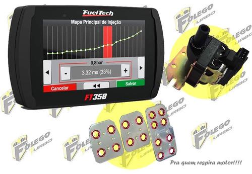 kit ft-350 + bobina ignição vw ap mi + pedaleiras racing