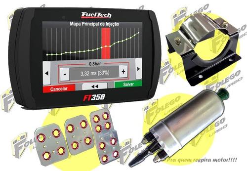 kit ft-350 + bomba comb. gti + suporte aço inox + pedaleiras