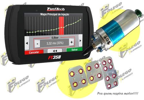 kit ft-350 + bomba combustível mercedes + pedaleiras racing