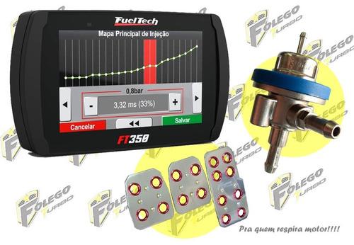 kit ft-350 + dosador combustível lp + pedaleiras racing