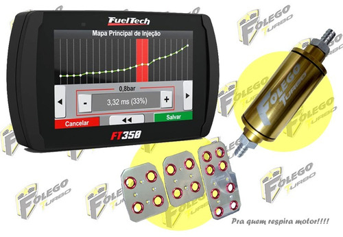 kit ft-350 + filtro combustível pequeno + pedaleiras racing